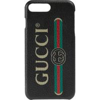 Gucci Capa Para Iphone 8 Plus Com Logo - Preto