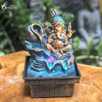 Fonte Decorativa Pequena Ganesh Azul