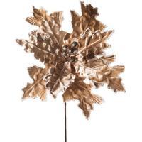 Flor Decorativa Acamurã§Ada- Dourada- 40X25X25Cm-Cromus