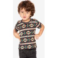Camiseta Étnica Preta Niños 500100