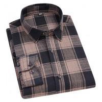 Camisa Xadrez Anthony Masculina - Bege