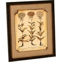 Quadro Decorativo De Parede Flores Com Moldura