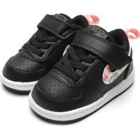 Tênis Nike Menina Court Borough Low Vf (Tdv) Preto