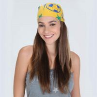 Bandana Oxer Brasil - Unissex - Amarelo/Verde