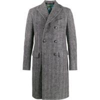 Etro Cappotto Chevron Tweed Coat - Cinza