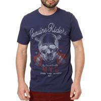 Camiseta Manga Curta Reversível Masculina Vels Azul