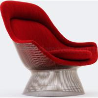 Poltrona Platner Easy Couro Bege