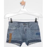 Short Jeans Com Recortes- Azul & Azul Escurocalvin Klein