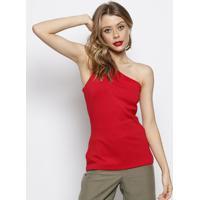 Blusa Ombro ÚNico Com Recorte- Vermelha- Forumforum