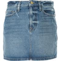 Frame Le Mini Denim Skirt - Azul