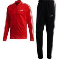 Agasalho Com As Três Listras Adidas - Masculino-Vermelho