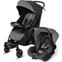 Carrinho De Bebê Com Bebê Conforto Cinza E Preto Até 22Kg - Cbx Woya