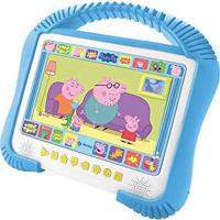 Dvd Player Peppa Pig Kids Portátil C/ Tela 7``, Entrada Usb, Decodificador Dolby Digital E Leitura De Mp3 + Dvd Poças De Lama