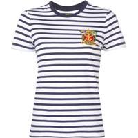 e2d49e5e77a68 Polo Ralph Lauren Camiseta Listrada Mangas Curtas - Azul