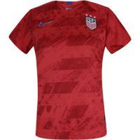 Camisa Estados Unidos Ii 2019 Nike - Feminina - Vermelho/Azul