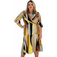Vestido Soellas Boutique Midi Estampado