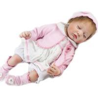 Boneca Laura Baby Ana - Bebe Reborn Rosa