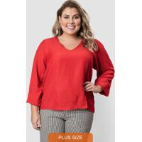 Blusa De Linho Vermelha