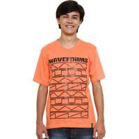 Camiseta Juvenil Com Estampa Waveforms Abrange