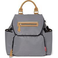 Bolsa Maternidade Skip Hop - Coleção Grand Central Take-It-All Backpack ( Mochila) - Black White Stripe