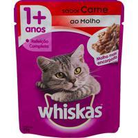 Ração Para Gatos Whiskas Adulto 1+ Anos Sachê 85G Sabor Carne Ao Molho Molho Mais Encorpado