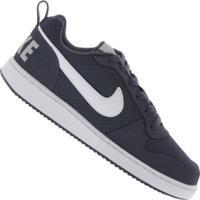 Tênis Nike Court Borough Low - Masculino - Azul Esc/Branco