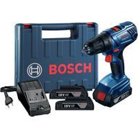 Furadeira E Parafusadeira De Impacto Bosch Gsb180 Baterias 18V 2 Bateria Maleta Bivolt