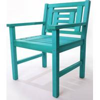 Poltrona De Madeira Echoes 1 Lugar Azul 61Cm - 61556 - Sun House