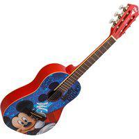 Violão Infantil Acústico Phx Vid-Mr1 Mickey Nylon Verniz Brilhante