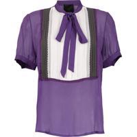 Andrea Bogosian Camisa Mangas Curtas Com Laço - Roxo