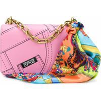 Versace Jeans Couture Bolsa Transversal Com Estampa - Rosa