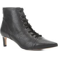 Bota Couro Shoestock Kitten Heel Cobra Feminina - Feminino-Preto
