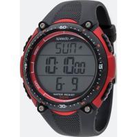Kit Relógio Masculino Speedo 81091G0Egnp2Kb Digital 5Atm + Monitor Cardíaco