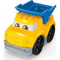 Blocos De Montar - Mega Bloks - Primeiros Carrinhos De Competição - Azul E Amarelo - Mattel