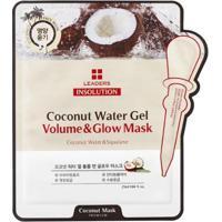 Máscara Facial Leaders - Insolution Coconut Water Gel Volume & Glow 1 Un - Unissex