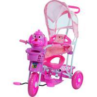 Triciclo Gangorra Infantil Bel Brink Cabeça De Cachorro Rosa