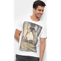 Camiseta Bossa Brasil Rout 66 Masculina - Masculino-Branco