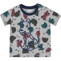Camiseta Infantil Bebê Menino Com Estampa Puff Puc