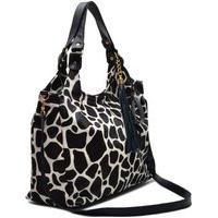 Bolsa Saco Em Couro Oliver Mour Animal Print Girafa