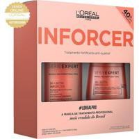 Kit Loréal Professionnel Shampoo Inforcer 300Ml + Máscara De Tratamento Inforcer 250G - Unissex-Incolor