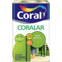 Tinta Acrílica Fosca Coralar Branca 18L - Coral - Coral