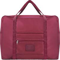 Bolsa De Viagem- Vinho- 36,5X42X20Cm- Jacki Desijacki Design