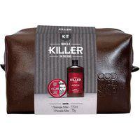 Kit Shampoo Qod Barber Shop Killer 220Ml + Pomada Capilar Killer 70G + Necessaire