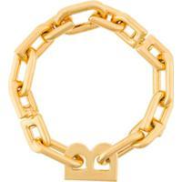 Balenciaga Pulseira Com Corrente - Dourado