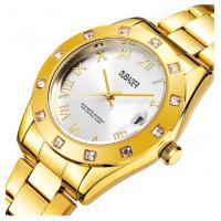 Relógio Feminino Oubaoer 6092L - Dourado E Branco