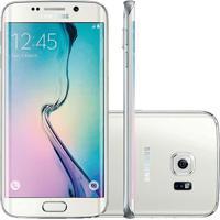"""Smartphone Samsung Galaxy S6 Edge Branco - 32Gb - Câmera 16Mp - 4G Lte - Octa Core - Super Amoled 5.1"""" - Android 5.0"""