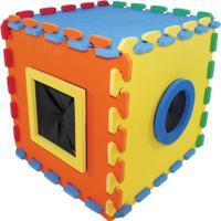 Cubo Tã¡Til - Laranja & Amarelo- 26X26X26Cm - Ciacia Brink