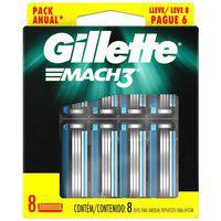 Carga Para Aparelho De Barbear Gillette Mach3 Com 8 Unidades 8 Unidades