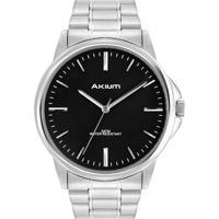 847f3342f58 Relógio Akium Masculino Aço - Tmg7088N1A