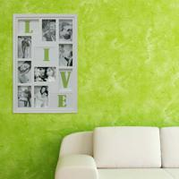 Painel Bee Collection Words Live 8 Fotos 10X15Cm Branco Kapos